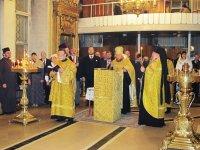 Молебен в Богоявленском кафедральном соборе Москвы в день рождения Главы Дома Романовых